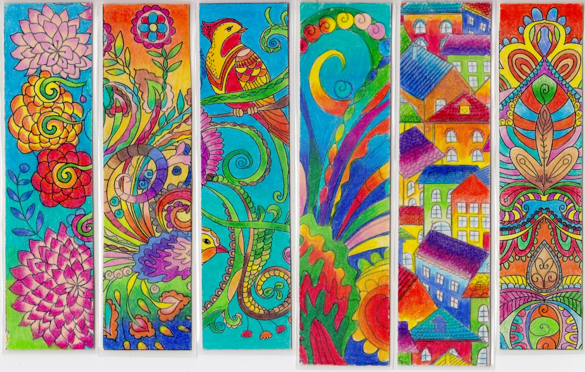 A post for you colorful bookmarks for Zentangle per bambini