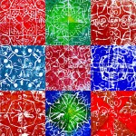 Prints in radial symmetry with styrofoam