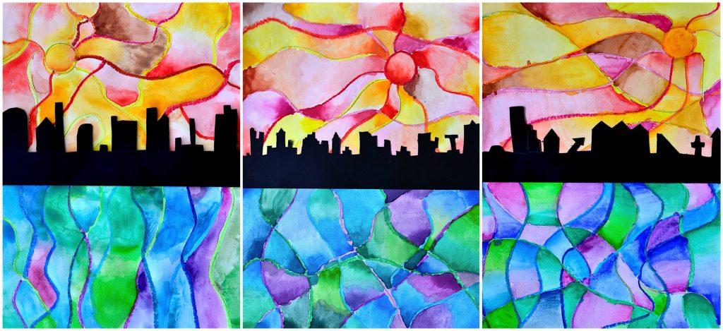 3 w&c watercolor landscape