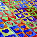 Hearts in complementary colors