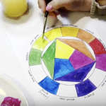 How to paint the color wheel: video tutorial