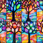 Tree in Warm & Cool colors